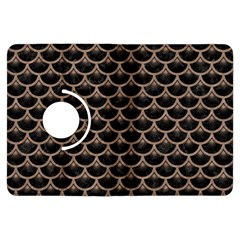 Scales3 Black Marble & Brown Colored Pencil Kindle Fire Hdx Flip 360 Case by trendistuff