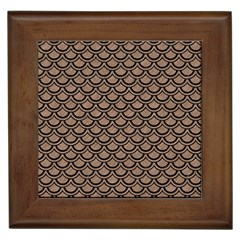 Scales2 Black Marble & Brown Colored Pencil (r) Framed Tile by trendistuff