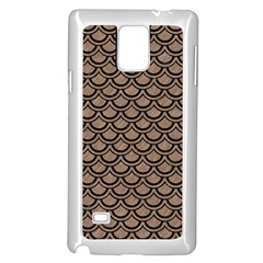 Scales2 Black Marble & Brown Colored Pencil (r) Samsung Galaxy Note 4 Case (white) by trendistuff