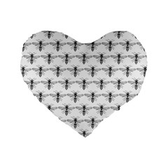 Bee Wasp Sting Standard 16  Premium Heart Shape Cushions by Mariart
