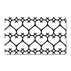 Heart Background Wire Frame Black Wireframe Magnet (rectangular) by Mariart