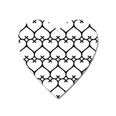 Heart Background Wire Frame Black Wireframe Heart Magnet by Mariart