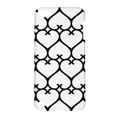 Heart Background Wire Frame Black Wireframe Apple Ipod Touch 5 Hardshell Case by Mariart