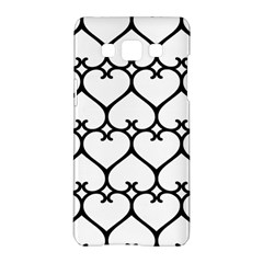 Heart Background Wire Frame Black Wireframe Samsung Galaxy A5 Hardshell Case  by Mariart