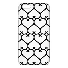 Heart Background Wire Frame Black Wireframe Iphone 6 Plus/6s Plus Tpu Case by Mariart