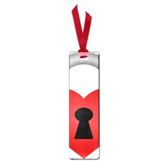 Heart Padlock Red Love Small Book Marks by Mariart