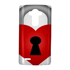 Heart Padlock Red Love Lg G4 Hardshell Case by Mariart