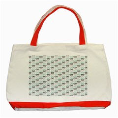 Glasses Black Blue Classic Tote Bag (red) by Mariart