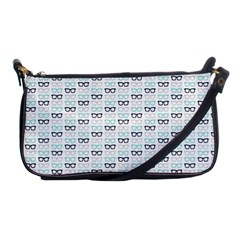 Glasses Black Blue Shoulder Clutch Bags by Mariart