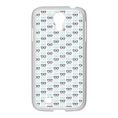 Glasses Black Blue Samsung Galaxy S4 I9500/ I9505 Case (white) by Mariart