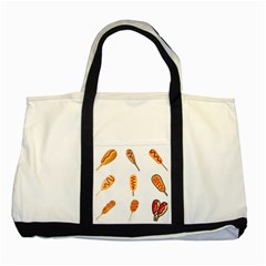 Hot Dog Buns Sate Sauce Bread Two Tone Tote Bag by Mariart