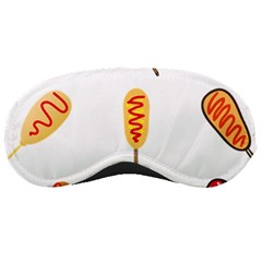 Hot Dog Buns Sate Sauce Bread Sleeping Masks by Mariart