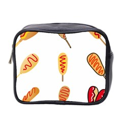 Hot Dog Buns Sate Sauce Bread Mini Toiletries Bag 2 Side by Mariart