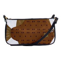 Illustrain Animals Reef Fish Sea Beach Water Seaword Brown Polka Shoulder Clutch Bags by Mariart