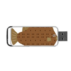 Illustrain Animals Reef Fish Sea Beach Water Seaword Brown Polka Portable Usb Flash (two Sides) by Mariart