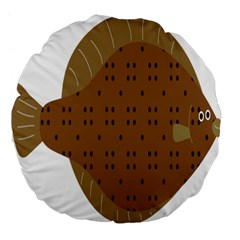 Illustrain Animals Reef Fish Sea Beach Water Seaword Brown Polka Large 18  Premium Flano Round Cushions by Mariart