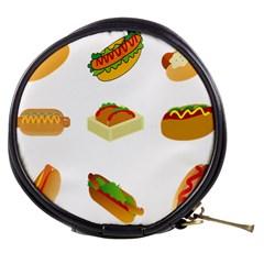 Hot Dog Buns Sauce Bread Mini Makeup Bags by Mariart