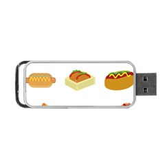 Hot Dog Buns Sauce Bread Portable Usb Flash (one Side) by Mariart