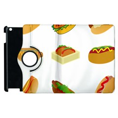 Hot Dog Buns Sauce Bread Apple Ipad 2 Flip 360 Case by Mariart