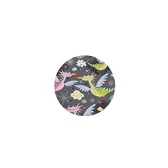 Dragonfly Animals Dragom Monster Fair Cloud Circle Polka 1  Mini Buttons by Mariart
