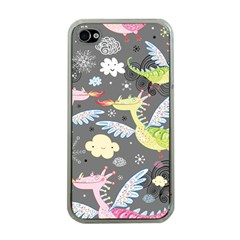 Dragonfly Animals Dragom Monster Fair Cloud Circle Polka Apple Iphone 4 Case (clear) by Mariart