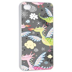 Dragonfly Animals Dragom Monster Fair Cloud Circle Polka Apple Iphone 4/4s Seamless Case (white) by Mariart