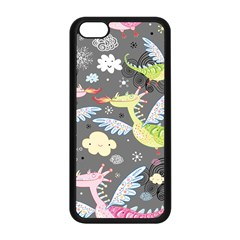 Dragonfly Animals Dragom Monster Fair Cloud Circle Polka Apple Iphone 5c Seamless Case (black) by Mariart