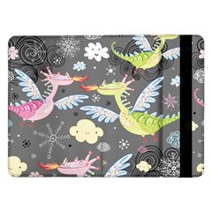 Dragonfly Animals Dragom Monster Fair Cloud Circle Polka Samsung Galaxy Tab Pro 12 2  Flip Case by Mariart