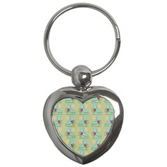 Ice Skates Background Christmas Key Chains (heart)