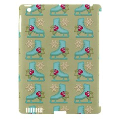 Ice Skates Background Christmas Apple Ipad 3/4 Hardshell Case (compatible With Smart Cover) by Mariart