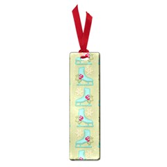 Ice Skates Background Christmas Small Book Marks by Mariart