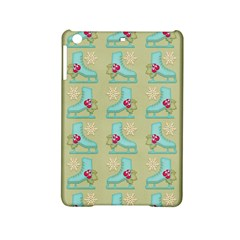 Ice Skates Background Christmas Ipad Mini 2 Hardshell Cases by Mariart