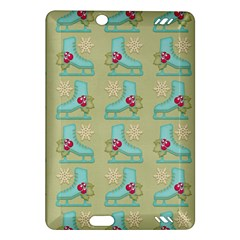 Ice Skates Background Christmas Amazon Kindle Fire Hd (2013) Hardshell Case by Mariart