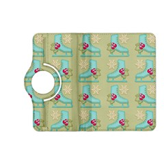 Ice Skates Background Christmas Kindle Fire Hd (2013) Flip 360 Case by Mariart