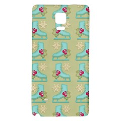 Ice Skates Background Christmas Galaxy Note 4 Back Case by Mariart