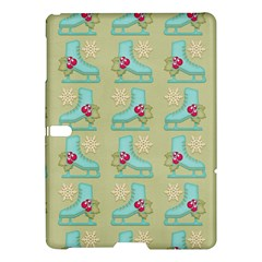 Ice Skates Background Christmas Samsung Galaxy Tab S (10 5 ) Hardshell Case  by Mariart