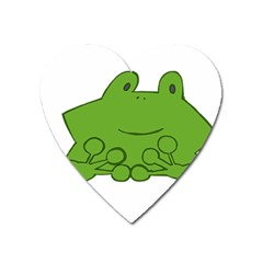 Illustrain Frog Animals Green Face Smile Heart Magnet by Mariart