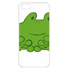 Illustrain Frog Animals Green Face Smile Apple Iphone 5 Seamless Case (white) by Mariart