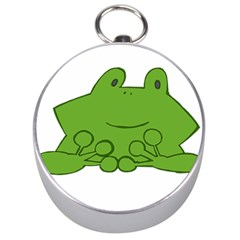 Illustrain Frog Animals Green Face Smile Silver Compasses by Mariart