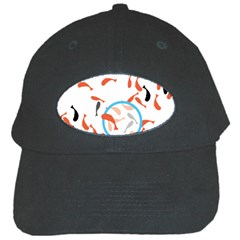 Illustrain Goldfish Fish Swim Pool Black Cap by Mariart