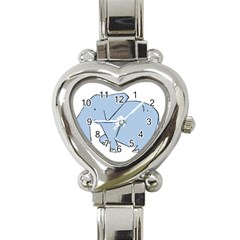 Illustrain Elephant Animals Heart Italian Charm Watch by Mariart