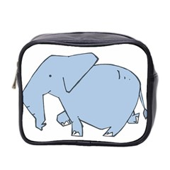 Illustrain Elephant Animals Mini Toiletries Bag 2 Side by Mariart