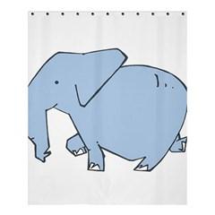 Illustrain Elephant Animals Shower Curtain 60  X 72  (medium)  by Mariart