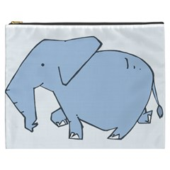 Illustrain Elephant Animals Cosmetic Bag (xxxl)  by Mariart