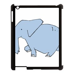 Illustrain Elephant Animals Apple Ipad 3/4 Case (black) by Mariart