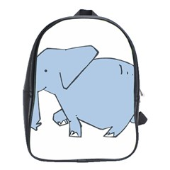 Illustrain Elephant Animals School Bags (xl)  by Mariart