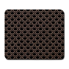 Scales2 Black Marble & Brown Colored Pencil Large Mousepad by trendistuff