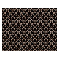 Scales2 Black Marble & Brown Colored Pencil Jigsaw Puzzle (rectangular) by trendistuff