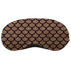 Scales1 Black Marble & Brown Colored Pencil (r) Sleeping Mask by trendistuff