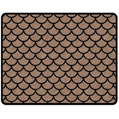 Scales1 Black Marble & Brown Colored Pencil (r) Fleece Blanket (medium) by trendistuff